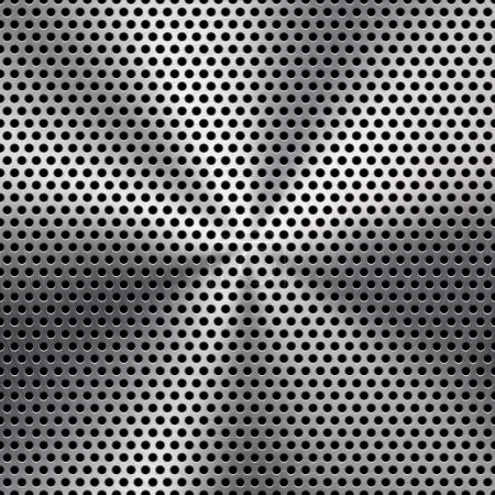 Seamless Circle Perforated Metal Grill Texture