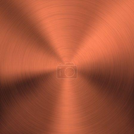 Bronze Metal Background with Circular Texture