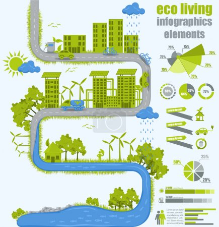 Illustration for Eco living concept - Royalty Free Image