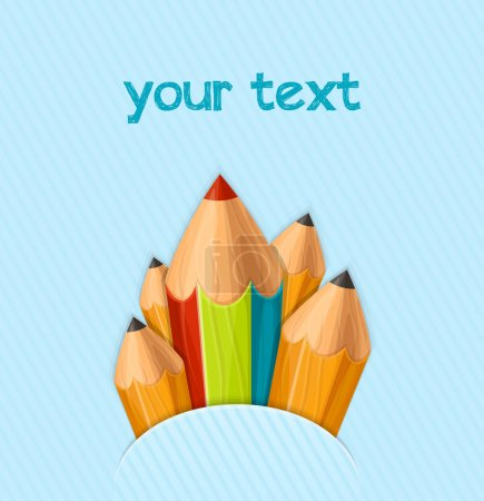 Illustration for Background concept with pencils, back to school - Royalty Free Image