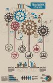 Work Team Info Graphic Elements