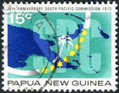 Papua-Nová Guinea - cca 1973: Poštovní známka, v Papua