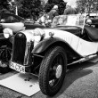 Постер, плакат: BERLIN MAY 11: Car Morgan F Series three wheelers black and