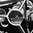 Постер, плакат: Steering wheel and dashboard German car Horch