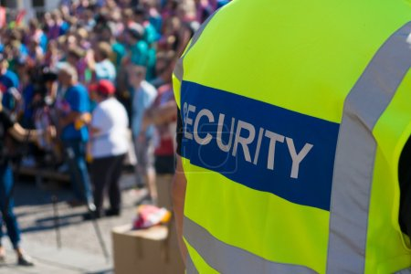 A security officer at the concert