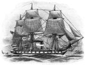 Warship Arcona-Klasse, SMS Elisabeth. The Norddeutsche Bundesmarine (North German Federal Navy).
