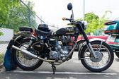 Berlín, Německo - 17 května 2014: motocyklů royal enfield bullet 500 es. 27 oldtimer den Berlín - brandenburg