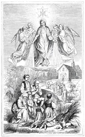 Old engravings. Ave Maria!