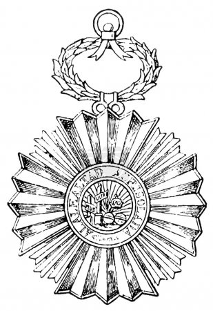 "Royal and American Order of Isabella the Catholic (Spain, 1815). Publication of the book ""Meyers Konversations-Lexik on"", Volume 7, Leipzig, Germany, 1910"