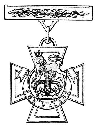 "Victoria Cross (Britain, 1856). Publication of the book ""Meyers Konversations-Lexik on"", Volume 7, Leipzig, Germany, 1910"