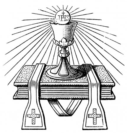 "The emblem of the priest. The Roman Catholic Church. Publication of the book ""Meyers Konversations-Lexikon"", Volume 7, Leipzig, Germany, 1910"