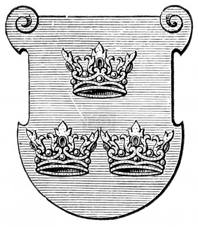 "Coat of Arms Order of the Sisters of St. Elizabeth. The Roman Catholic Church. Publication of the book ""Meyers Konversations-Lexikon"", Volume 7, Leipzig, Germany, 1910"