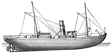"Russian icebreaker ""Gaydamak"", 1899"