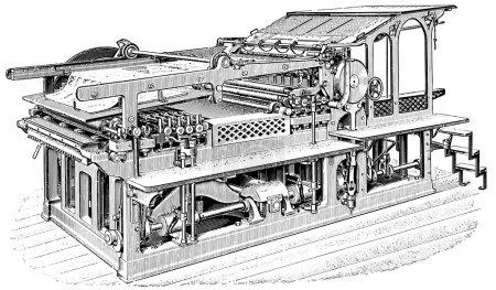 Printing press. Chromotypograph.