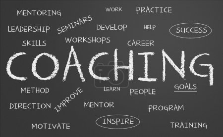 Photo for Chalkboard with coaching concept - Royalty Free Image
