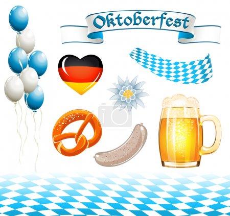 Set of Oktoberfest design elements...