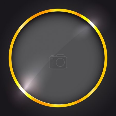 Illustration for Round frame with golden border - Royalty Free Image