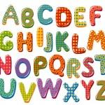 Colorful alphabet letters...