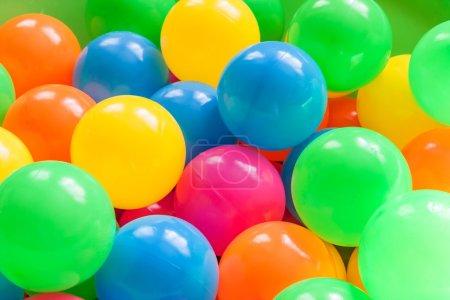Plastic balls.