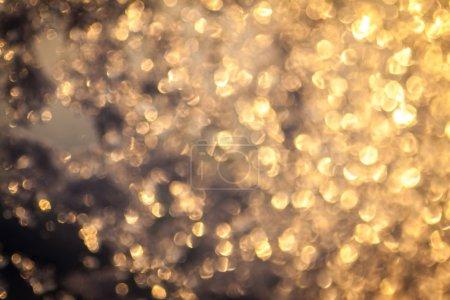 Golden bokeh background.