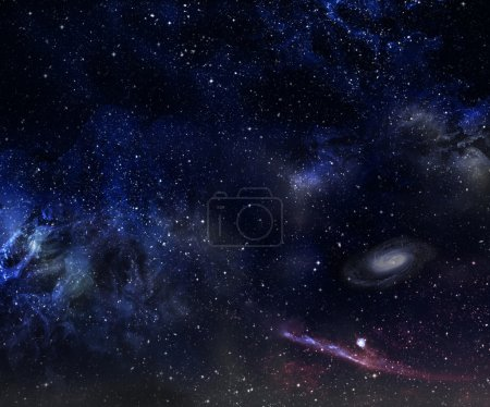 Photo for Space scene with nebula and galaxy. - Royalty Free Image