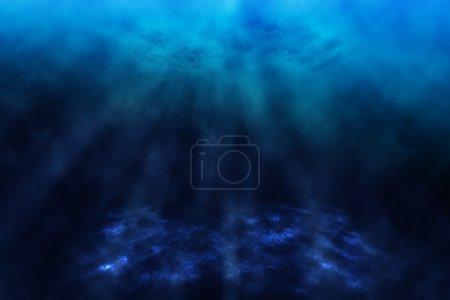 Photo for Dark underwater world, background. - Royalty Free Image