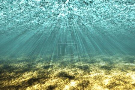The underwater world.