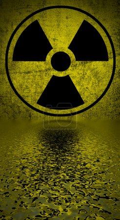 Radiation hazard symbol.