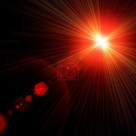 Foto de Efectos especiales de luz de Bengala en negro. - Imagen libre de derechos