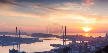 Vladivostok, sunset.