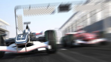 Photo for Formula 1 Car Racing speeding in the track - Royalty Free Image
