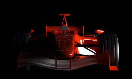 Photo pour Formule 1 Voiture - Isolé sur fond noir - image libre de droit