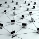 Computer Network - Internet Concept with desktop p...