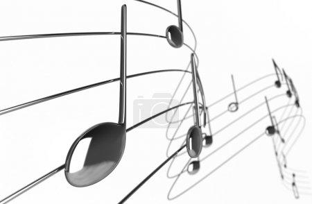 Photo pour Notes de musique - isolés sur fond blanc - image libre de droit