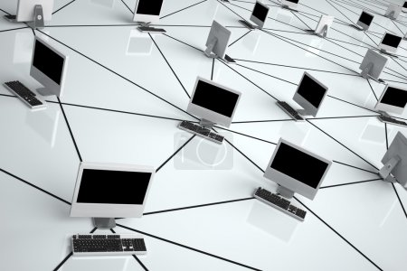Photo for Computer Network - High quality render - - Royalty Free Image