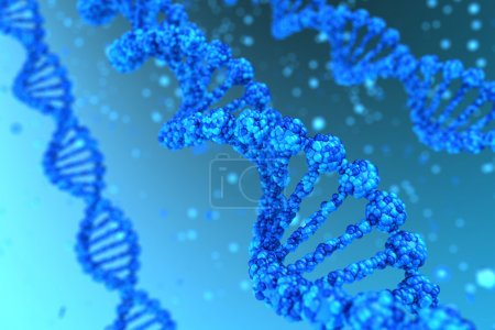 Photo for Three DNA helix magnified - high quality render - Royalty Free Image