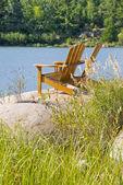 Muskoka, Adirondack Chairs by the Lake