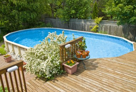 Photo for Above Ground Swimming Pool - Royalty Free Image