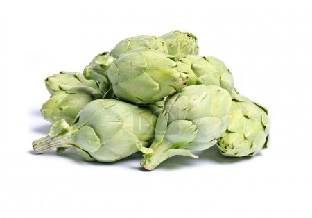 Baby Artichokes Isolated on White