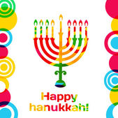 Happy hanukkah Vector design card