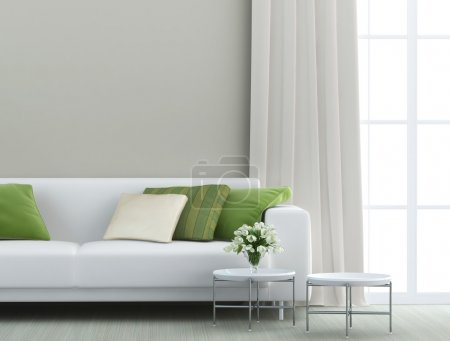 Photo for Beautiful living room with white sofa - Royalty Free Image
