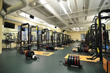 College gym workout fascility