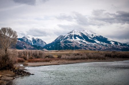 Rocky Mountains by the Yellowstone River