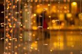 christmas lights rain decoration