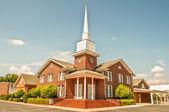 Exterior of modern American church