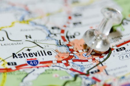 Asheville city pin on the map...