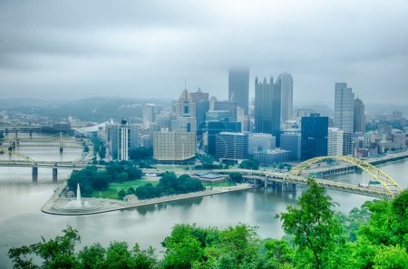Pittsburgh, Pennsylvania - city in the United States. Skyline wi