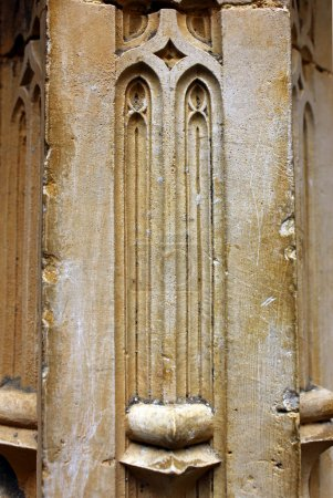 Detail of a column at the Batalha Monastery, Portugal