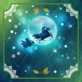 Reiten Weihnachtsmanns Weihnachten Nacht Hintergrund