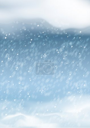 Vector Abstract Winter Snowfall Background